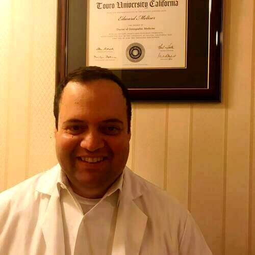 Holistic doctor Edward Meltser Hollywood California Osteopathic doctor